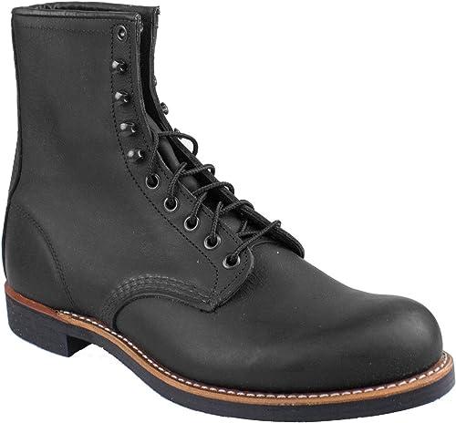 rouge Wing Pour des hommes Harvester 2944 noir Leather bottes 42.5 EU