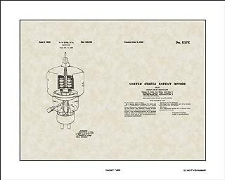 Vacuum Tube Patent Art Wall Hanging   Computer Programmer Print Gift 16x20