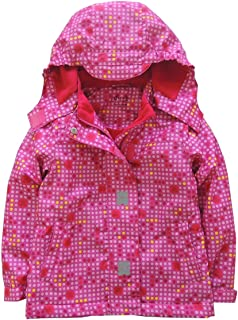 Hiheart Boys Girls Cotton Lined Windbreaker Hooded Jackets