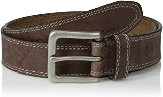 Men's Classic Leather Jean Belt 1.4 Inches Wide (Big & Tall Sizes Available), Dark Brown...