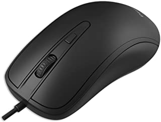 Philips 3-Button USB Mouse for Laptop, PC or Mac OS | Optical Wired Mouse, Adjustable DPI | Quiet & Accurate with Quick-Scroll | Ambidextrous Design for Home or Office (SPK7214)