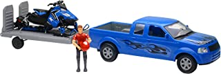 Replica 1:18 Trk/Trailer/Sled Truck Blue/Polaris Blue