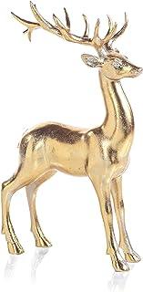 Zodax Clara Gold Standing Deer Statue Christmas Figurines