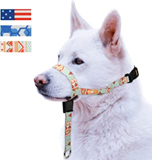 Colorful Dog Head Collar with 3 Beautiful Designs, Head Harness Stops Dog Pulling, Head Leash