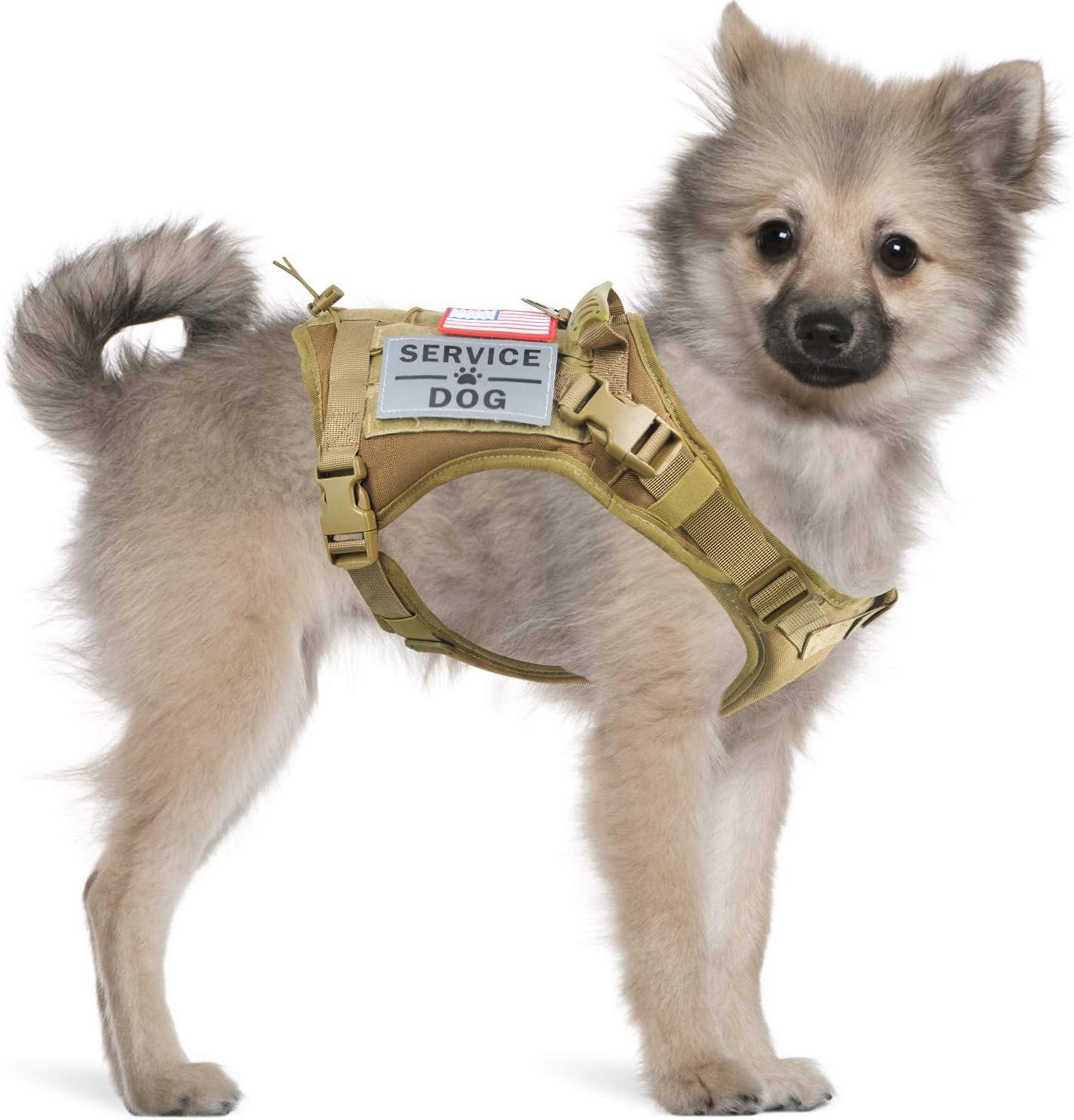 Tactical Service Dog Harness Vest Water-Resis K9 OFFicial site outlet Adjustable Work