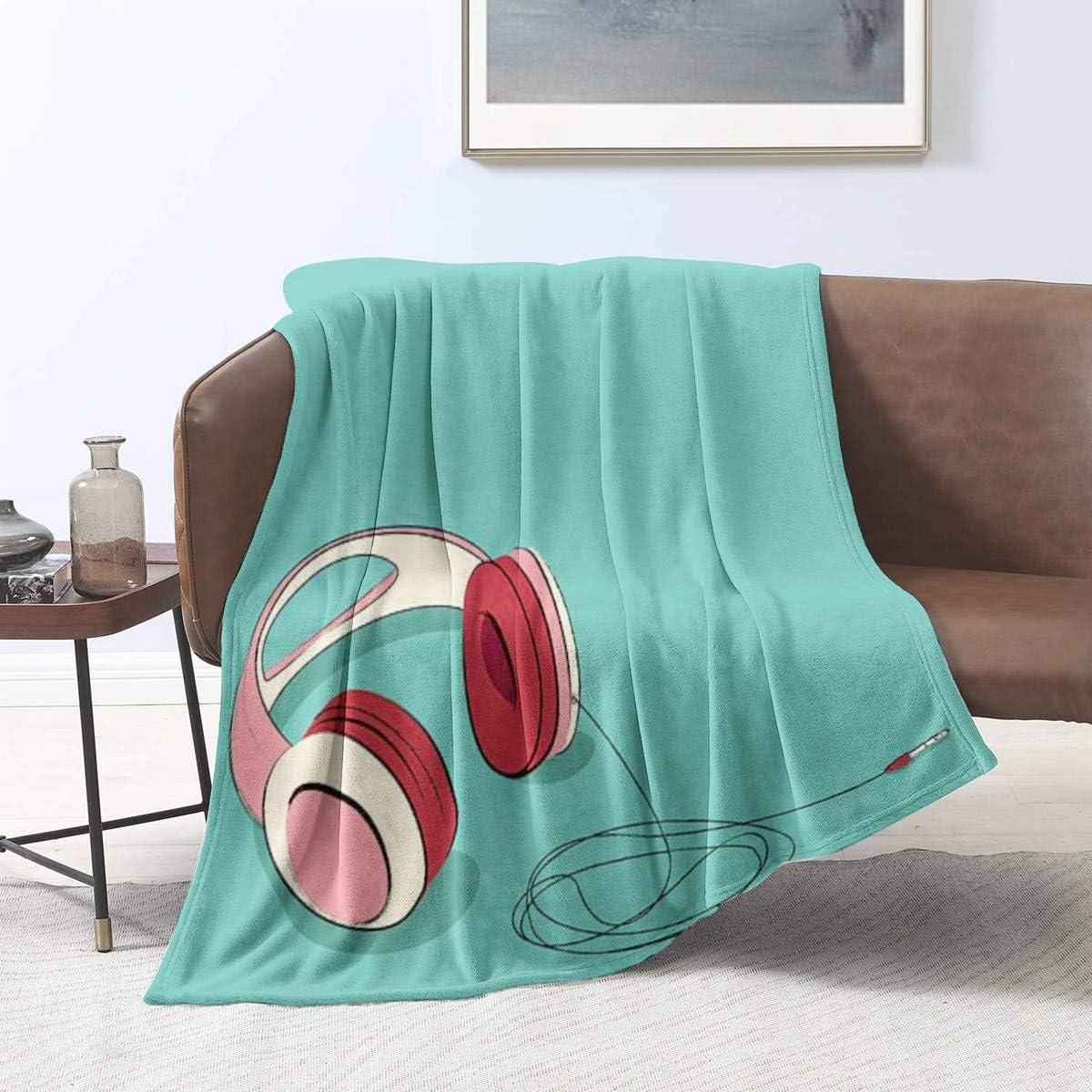 Ellekiwi Flannel Blanket Girlish All stores are sold Headphones Limited price Illustration P Stock