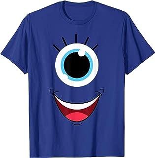 Funny Scary Monster Eyeball Face Halloween Costume T-Shirt