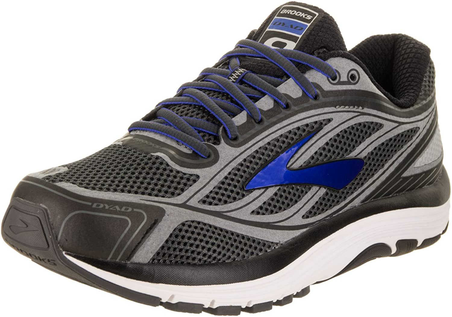 Brooks Brooks Men's Dyad 9 Asphalt Electric Blau schwarz 8.5 EE US  bester Ruf
