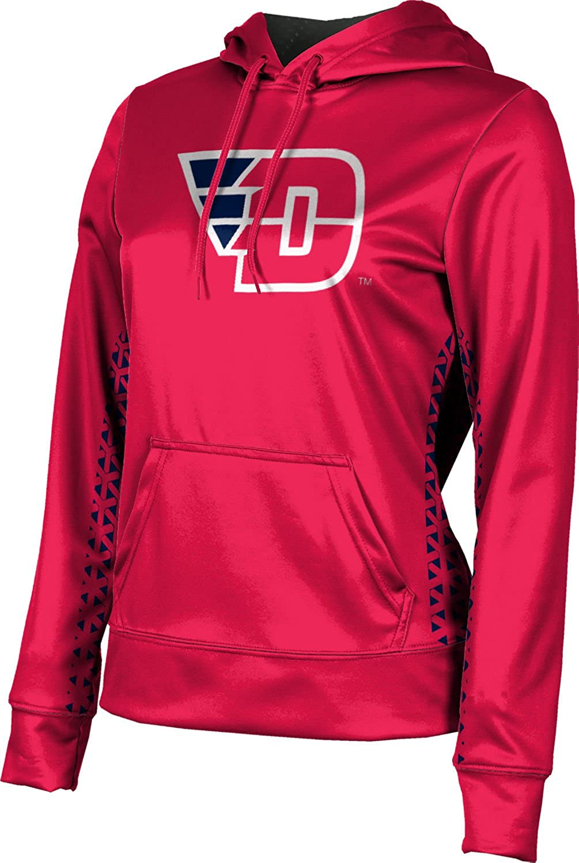 ProSphere University of Dayton Girls' Pullover Hoodie, School Spirit Sweatshirt (Geometric)
