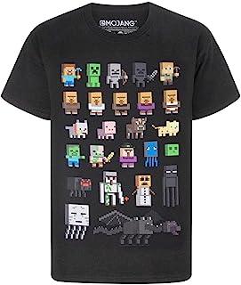 Minecraft t-shirt voor jongens sprites verschillende kleuren korte mouw kids top