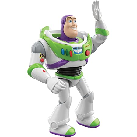 Mattel Pixar Interactables Buzz Lightyear Talking Action Figure, 7-in Tall Posable Movie Character Toy, Interacts with Other Figures, Kids Gift Ages 3 Years & Older