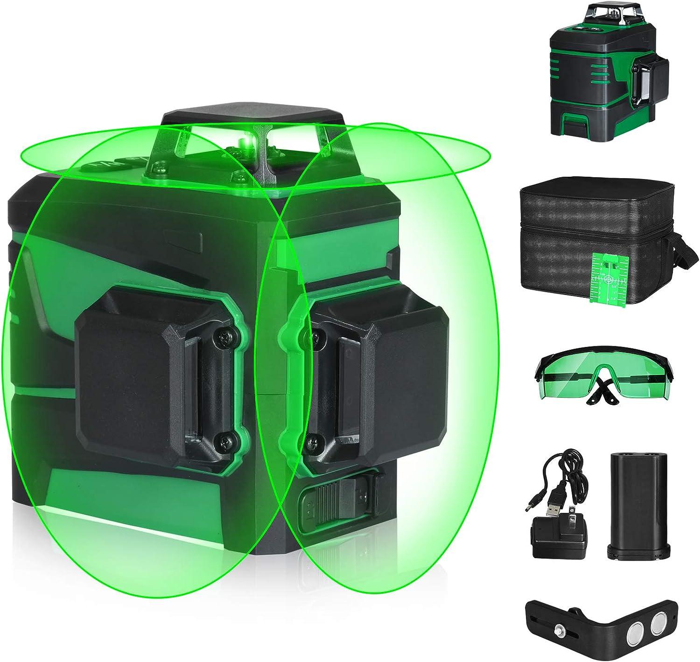 ふるさと割 Self-Leveling Laser Level -SUNCOO 100ft Beam ラッピング無料 Horizo Green 3x360°