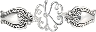 Spoon Handle Style Monogram Initial Silver Tone Magnetic Clasp Bracelet