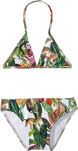 Oscar de la Renta Childrenswear Jungle Monkeys Bikini (Toddler/Little Kids/Big Kids)