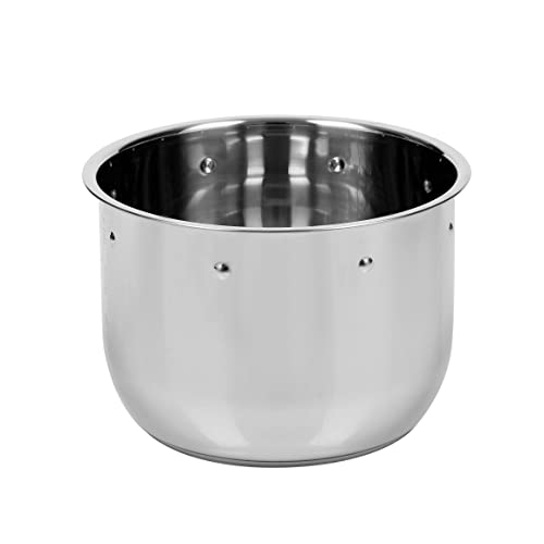 Secura Stainless Steel Deep Fryer with Basket, 3.2 Quart (Silver)