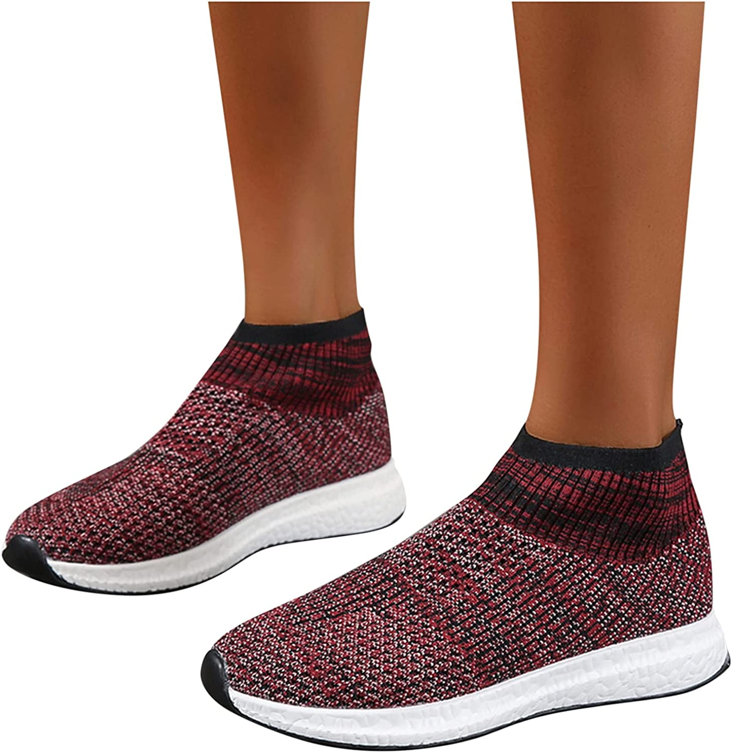 UOCUFY Sneakers for Women Slip On Sneakers Comfort Breathable Mesh Running Shoes Lightweight Casual Walking Shoes Athletic Shoes