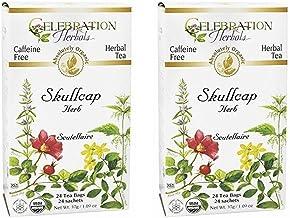 Celebration Herbals - Organic Skullcap Herb Herbal Tea - 24 Tea Bags 2 pack
