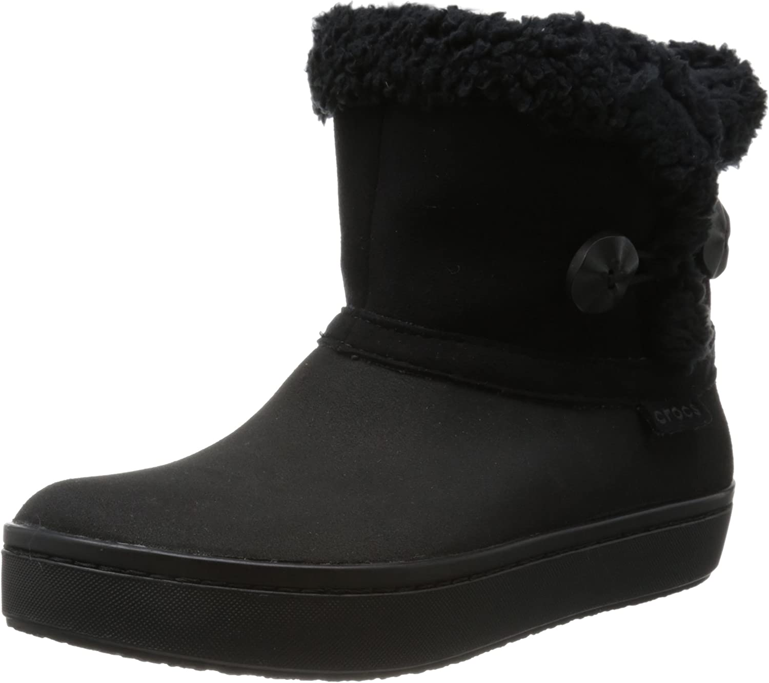 Crocs - Womens Modessa Synth Suede Shorty shoes (5, Black)