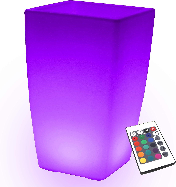 PK Grün Erstklassiger LED Blaumentopf Pflanzkübel Leuchtvase Innen, Außen, Garten   Farbwechsel, Fernbedienung   50cm Hoch, Blaumenkübel Pflanztopf Leuchtend Akku   Stehlampe Wasserdicht Modern Design B07DT5TF66 | Gute Qualität