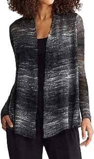Women's Mohair Wool Long Shaped Cardigan Sweater, Ash