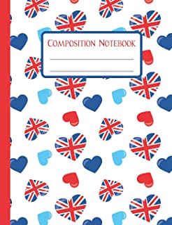 Composition Notebook: Union Jack Love - 110 Wide-Ruled Pages - Standard Composition Book Size - Fun Back to School Supplies