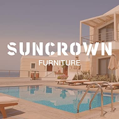 SUNCROWN Outdoor Furniture Patio Rocking Chair All-Weather Wicker Seat with Thick, Washable Lime Green Cushions, Smooth Glidi