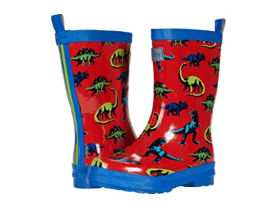 Hatley Kids Painted Dinos Shiny Rain Boots (Toddler/Little Kid) (Red) Boy