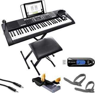 $149 » Alesis Melody 61 MKII - 61-Key Portable Keyboard with Built-In Speakers, Headphones, Microphone, Piano Stand, Music Rest and Stool + Cable, Cable Ties + Keyboard Cover + Flash Drive