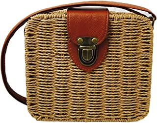 Coin Purses Coin Purses & Holders Fashion Women Straw Purse Ladies Straw Beach Coin Wallet Shoulder Bag Round Fluffy Woven Travel Holiday Tote Handbag