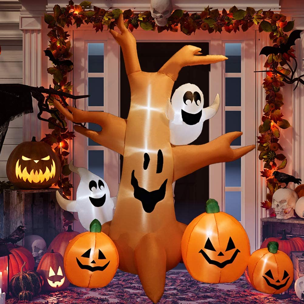 HOLLO STAR 8 Ft Halloween Inflatable Up Yard Blow Lighted Large special price Decor trend rank