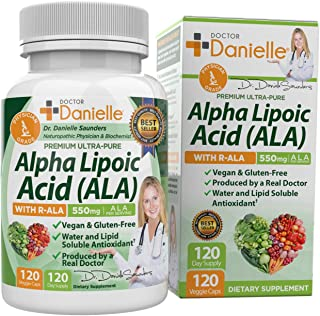 Alpha-Lipoic Acid by Dr. Danielle, Neuropathy Support, Non-GMO, Gluten-Free, Vegan, Soy-Free, Promotes Healthy Blood Sugar...