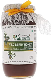 Farm Naturelle-Virgin 100% Pure Raw Natural Unprocessed Wild Berry (Sidr) Forest Flower Honey - 1.45 KG Big Glass Bottle