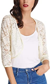 Best ivory lace shrugs and boleros Reviews