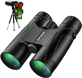 12X50 Powerful Binoculars, High Power HD Binocular for Adults with Smartphone Holder & Tripod, Waterproof Binoculars with ...