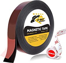 Flexible Magnetic Tape – 1 Inch x 10 Feet Magnetic Strip with Strong Self Adhesive..