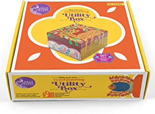 Asian Hobby Crafts Make Your Own Gond Painting Utility Box DIY Activity Box for Kids and Adults