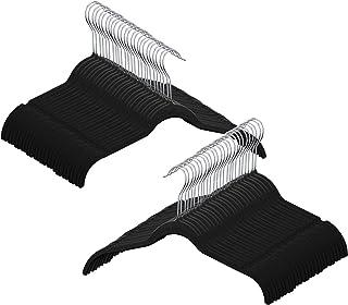 Utopia Home 50-Pack Shirt Hangers Non Slip Velvet Hangers - Black