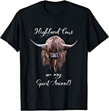 Scottish Highland Cow Spirit Animal T-shirt