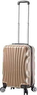 Viaggi Mia Viaggi Italy Bari Hardside Spinner Carry-on, Champagne (Yellow) - V1046-20IN-CHMN