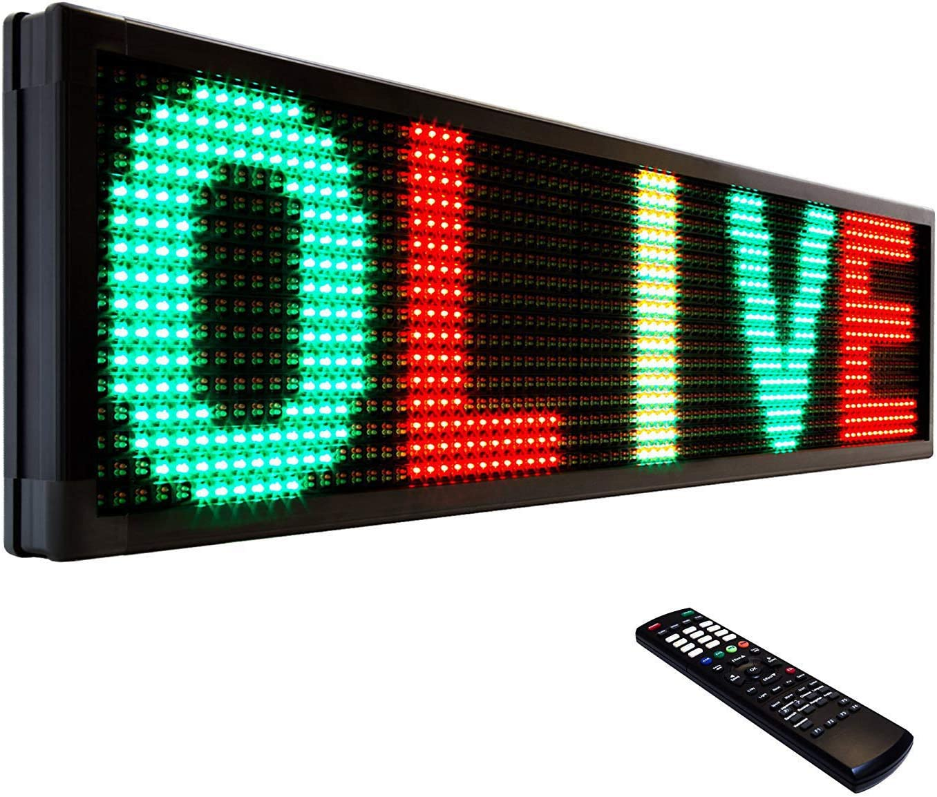 OLIVE LED Sign 3Color RGY P15 Super special price cheap IR 12
