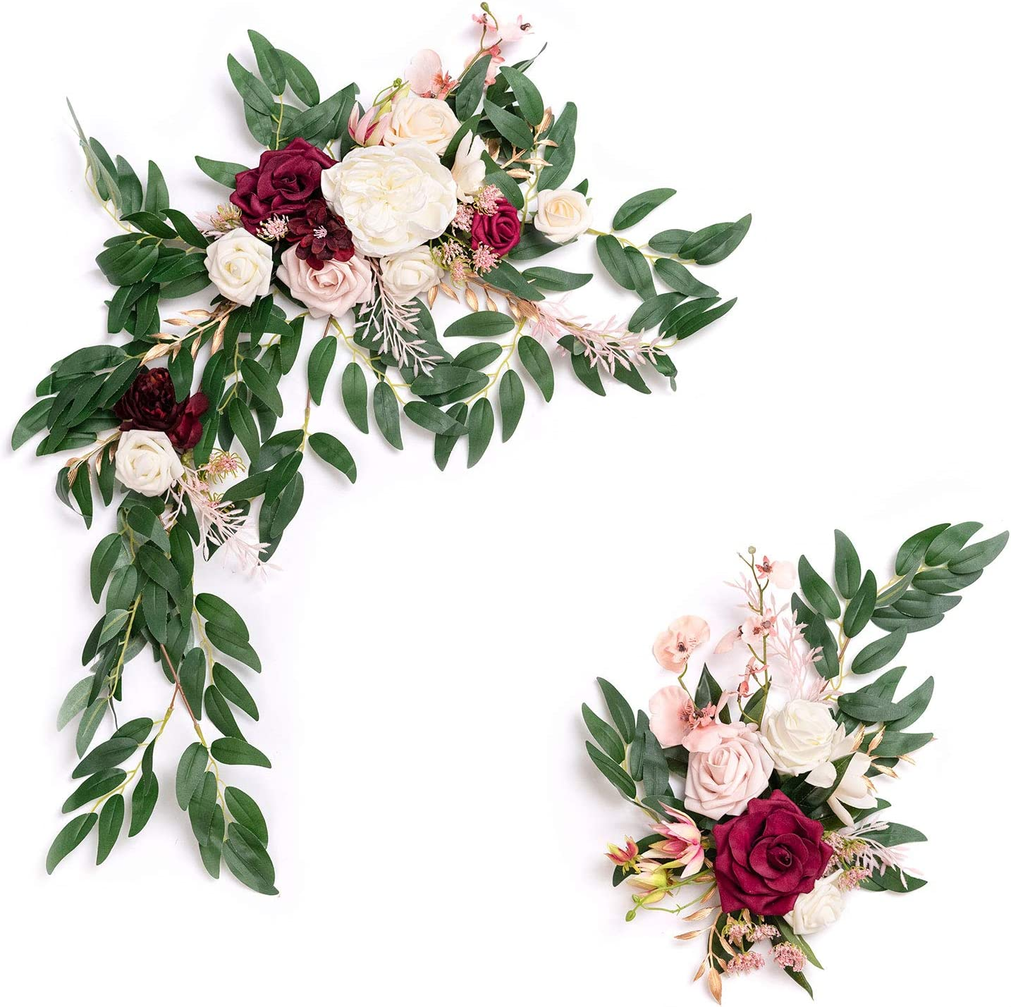 Ling's moment Al sold out. Artificial Flower Swag for Ceremon Wedding Raleigh Mall Marsala