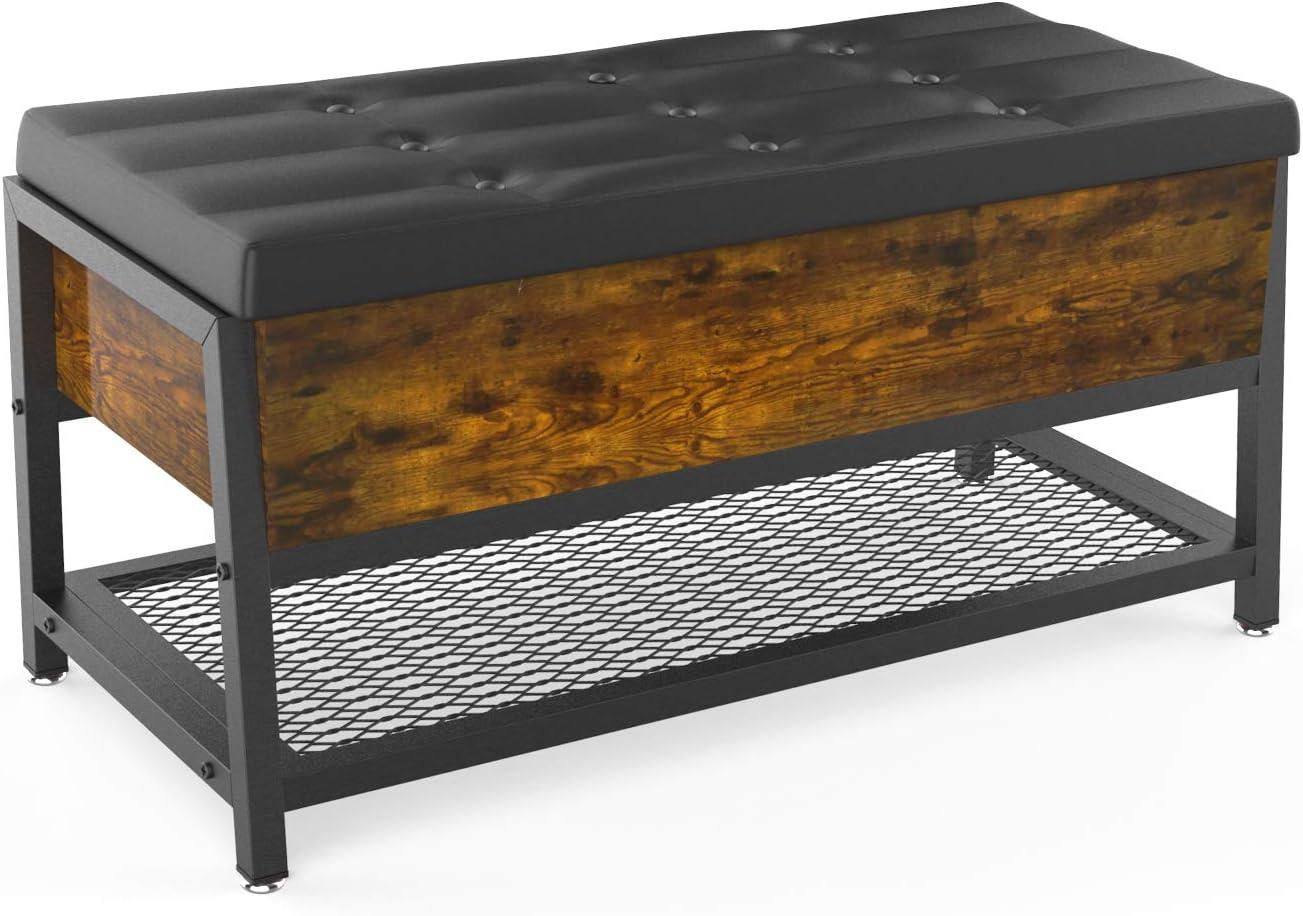 送料無料 VANERGY Shoe Bench with Storage Space Bed Stool 送料無料激安祭 End Ben Weight