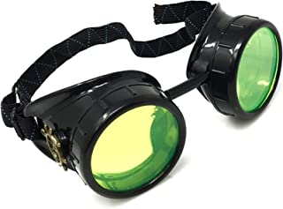 Steampunk Victorian Goggles Rave Glasses, Sleek and Stylish Industrial