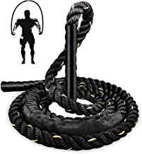 TIM-LI 9.2Ft Workout Springen Touwen - Zwaar Gewogen Springtouw/Achterbeen Butt Fitnessapparatuur voor Gym Training