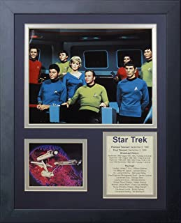 Legends Never Die Star Trek Bridge Crew Framed Photo Collage, 11 by 14-Inch