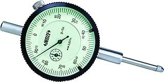 Starrett 25-4041J Dial Indicator Lug-on-Center Back 0.001 Graduation 0.375 Stem Dia. 0-4 Range White Dial 2.25 Dial Dia. 0-100 Reading Long Range