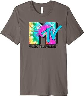 Bright Rainbow Tie Dye Logo Premium T-Shirt
