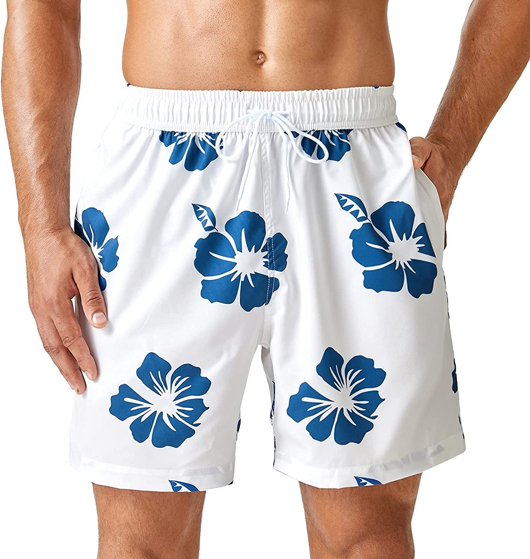 Summer Beach Shorts Mens Swim Trunks Quick Dry Pants for Men, Men's Adult Boxer Shorts Surfing Swimming Pants