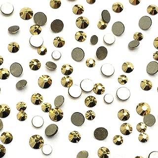 Crystal Aurum (001 AUR) Gold 2058 Swarovski Nail Art Tiny Small Mixed Sizes ss5 ss7 ss9 Flatbacks No Hotfix Rhinestones