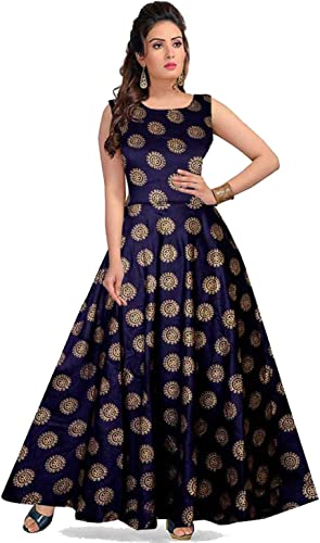 Women s Maxi Dress FR 6361 Blue Free Size